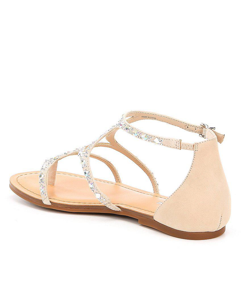 da64c6a317d1 Lyst - Gianni Bini Xephy Jeweled Sandals