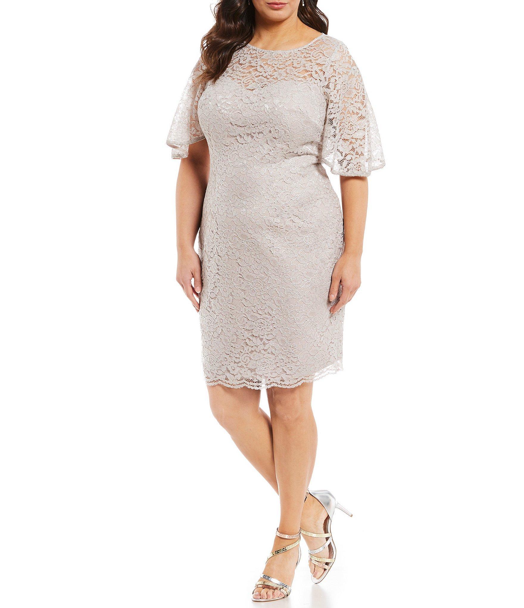 ac68eaaed9a Adrianna Papell. Women s Plus Size Lace Sheath Dress