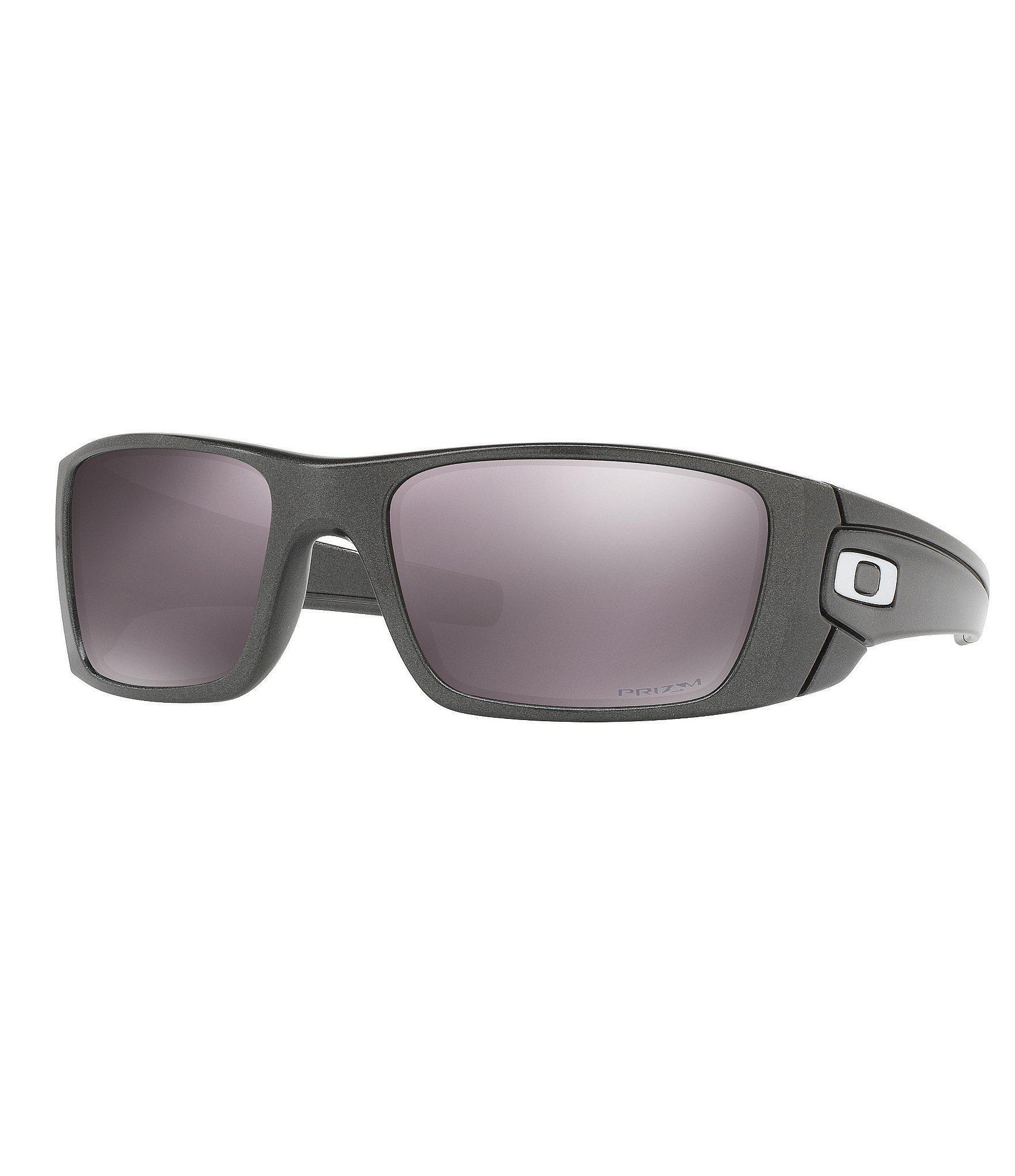 db847eb7a ... inexpensive oakley. mens gray fuel cell granite daily prizm polarized  mirrored wrap sunglasses fb90f d7849