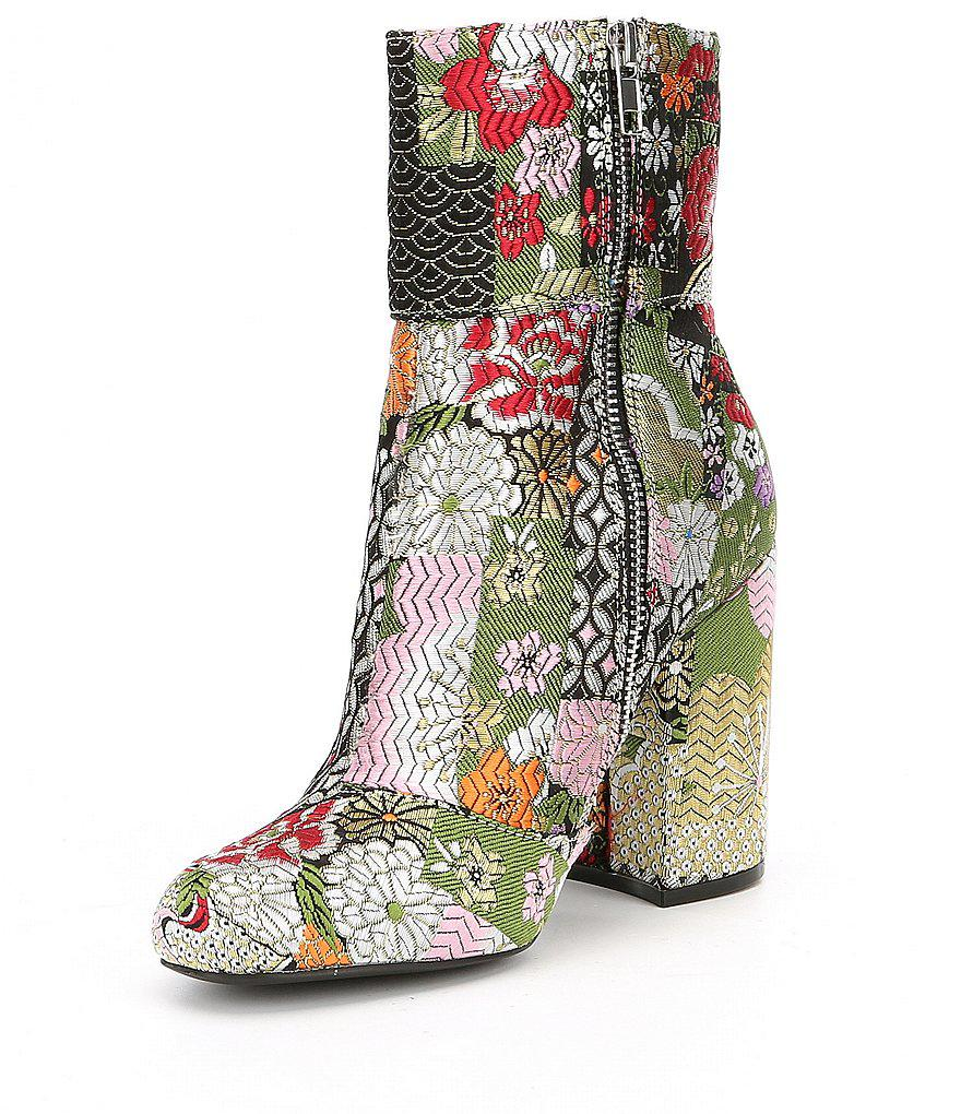 f3490060596 Lyst - Steve Madden Goldie Floral Booties