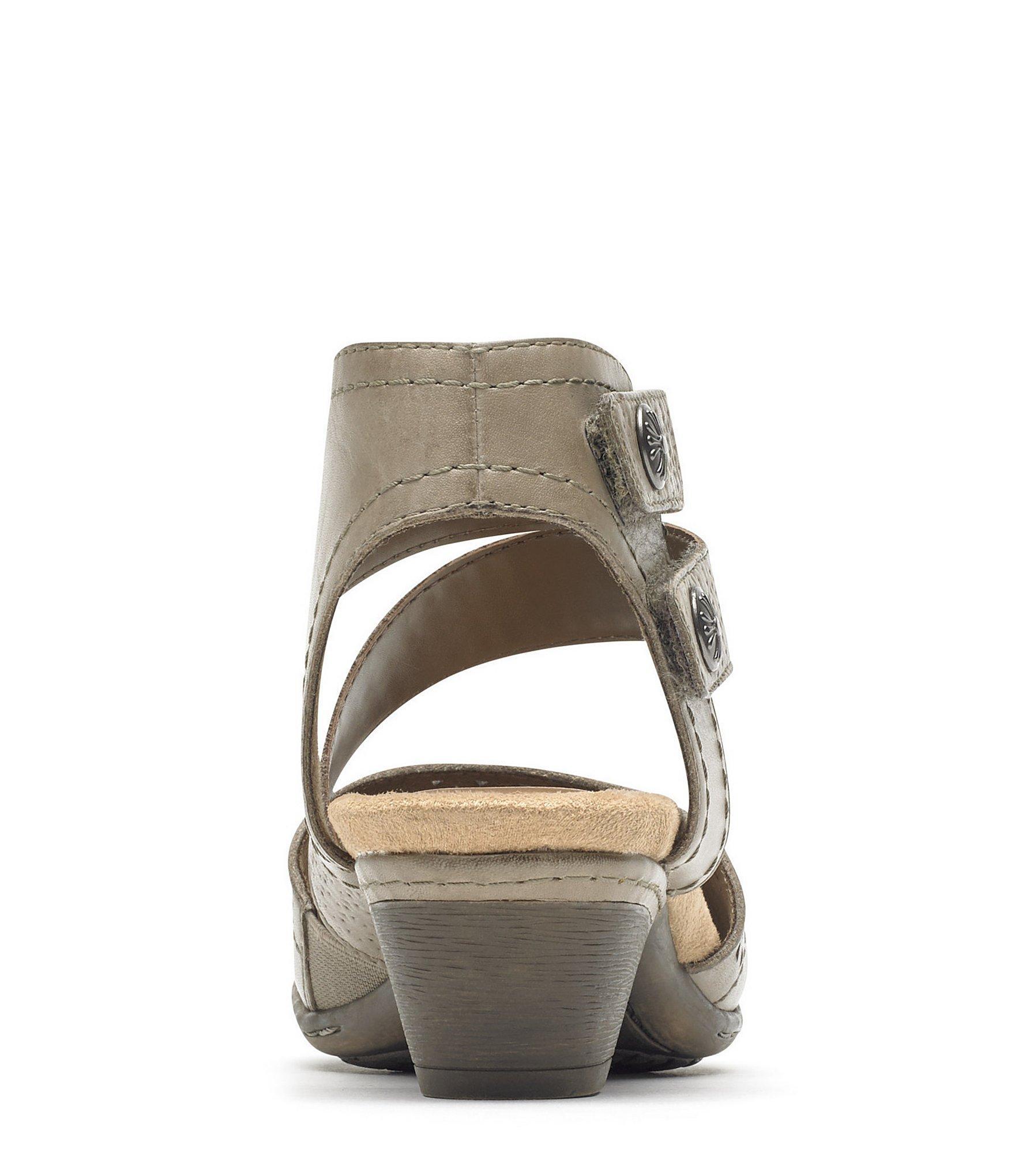 87b758909 Rockport - Multicolor Abbott Leather Cuff Block Heel Sandals - Lyst. View  fullscreen
