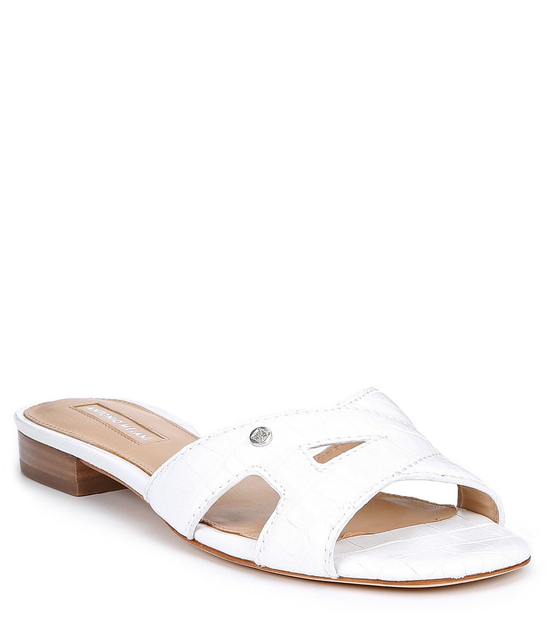 36da498f5c7 Lyst - Antonio Melani Carrah Logo Slide Sandals in White