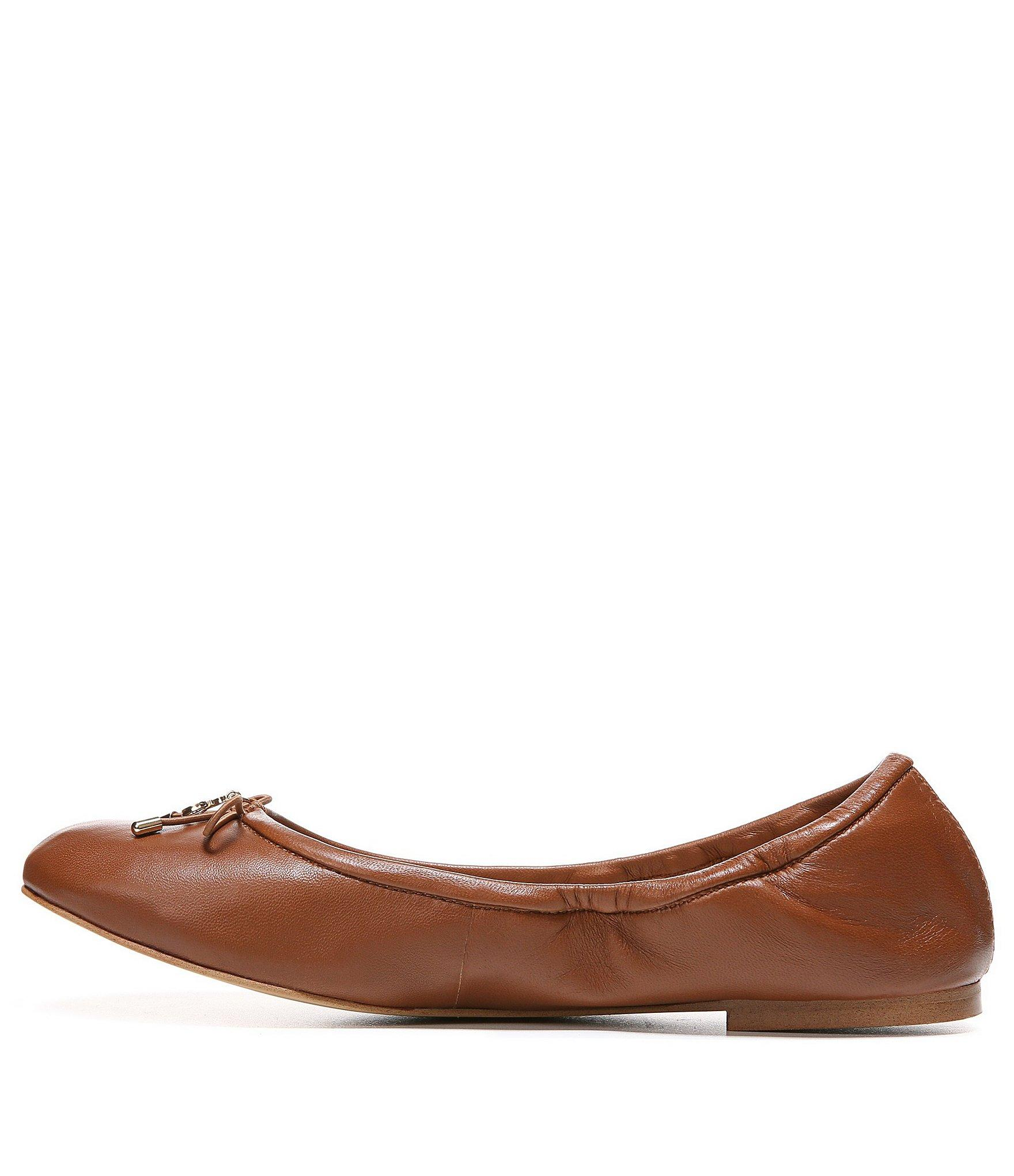 60a5580b1682b8 Sam Edelman - Brown Felicia Leather Ballet Flats - Lyst. View fullscreen