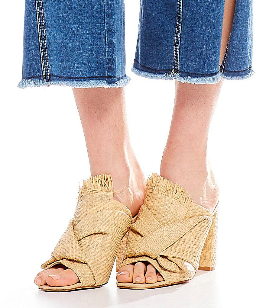Canbrintwo Raffia Knotted Mules