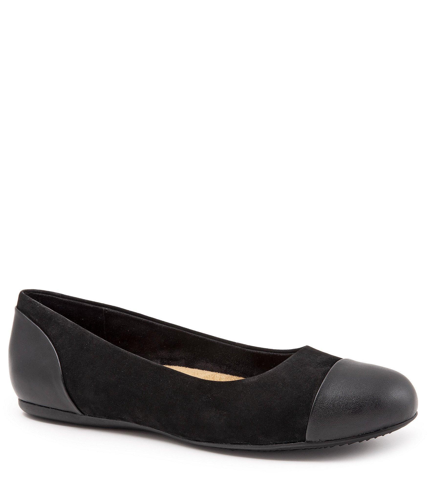 37c10d77f9a ... Black Sonoma Cap Toe Nubuck Ballet Flats - Lyst. View fullscreen