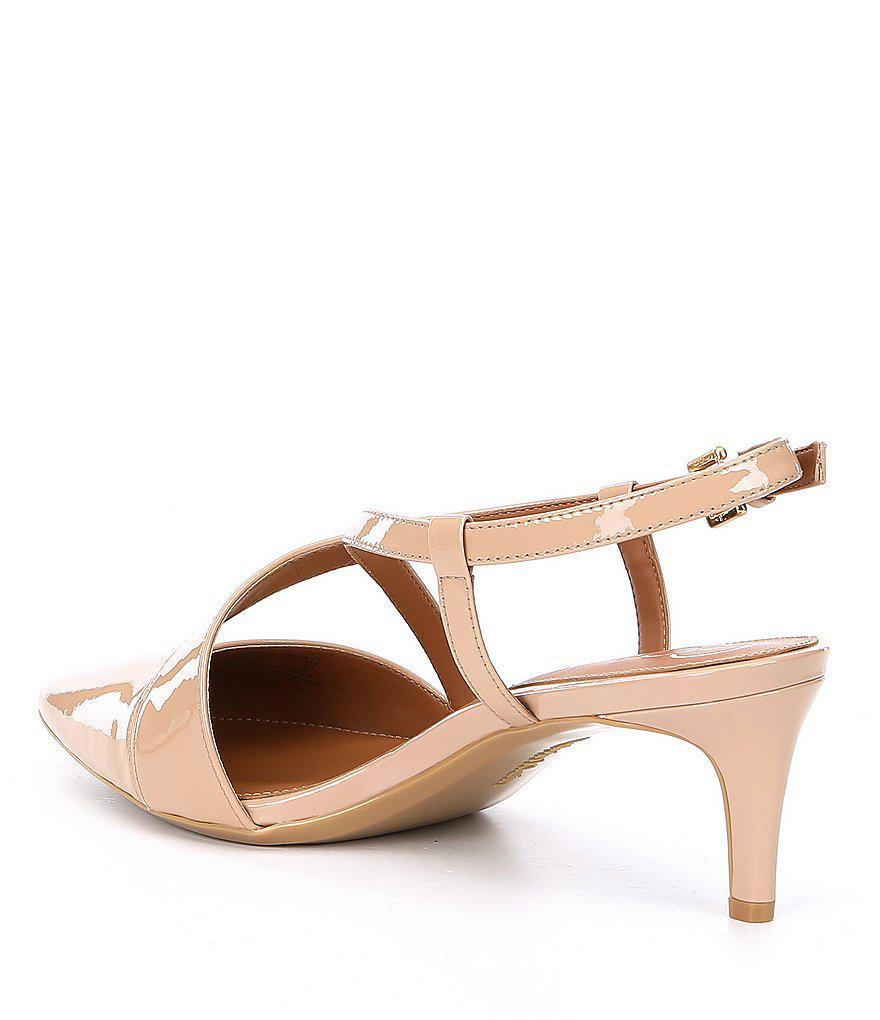 Calvin Klein Paula Patent Leather Dress Pumps PCkgJ7swAK