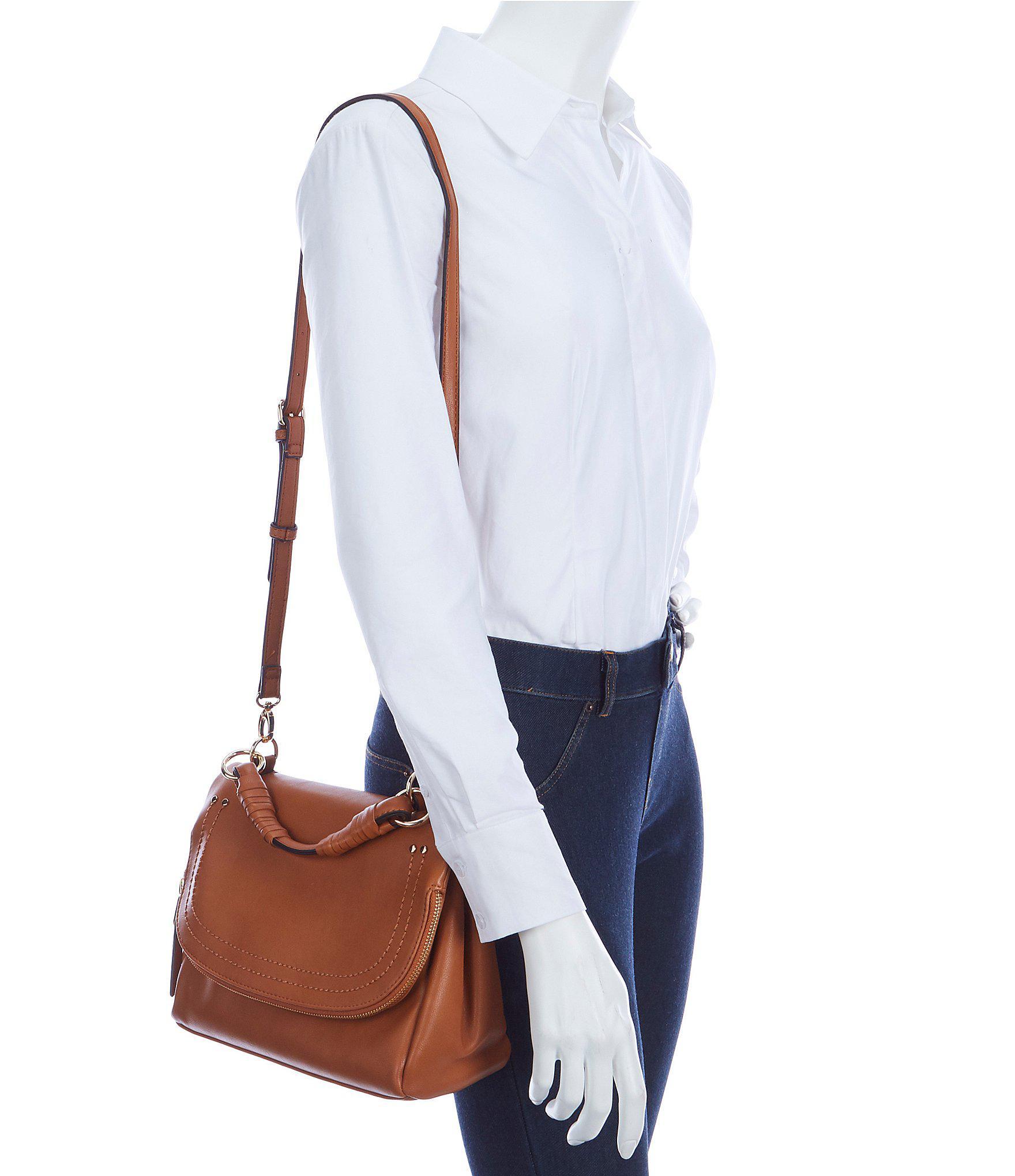 7533e69d7a Sole Society Rubie Zipper Flap Cross-body Bag in Brown - Lyst