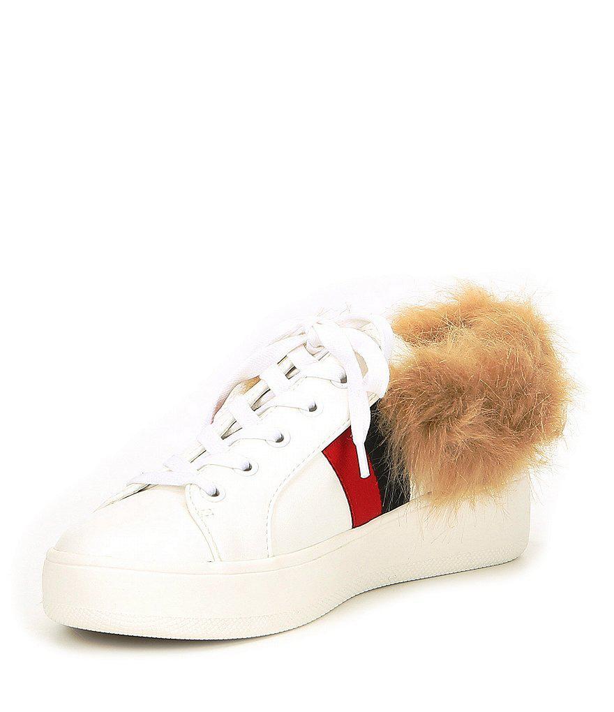 Steve Madden Belle Webbed Fur Sneakers gtYzP
