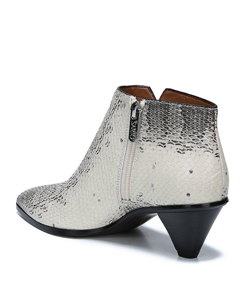Sarto by Franco Sarto Spectra Snake Print Leather Booties IqDQsWvNh