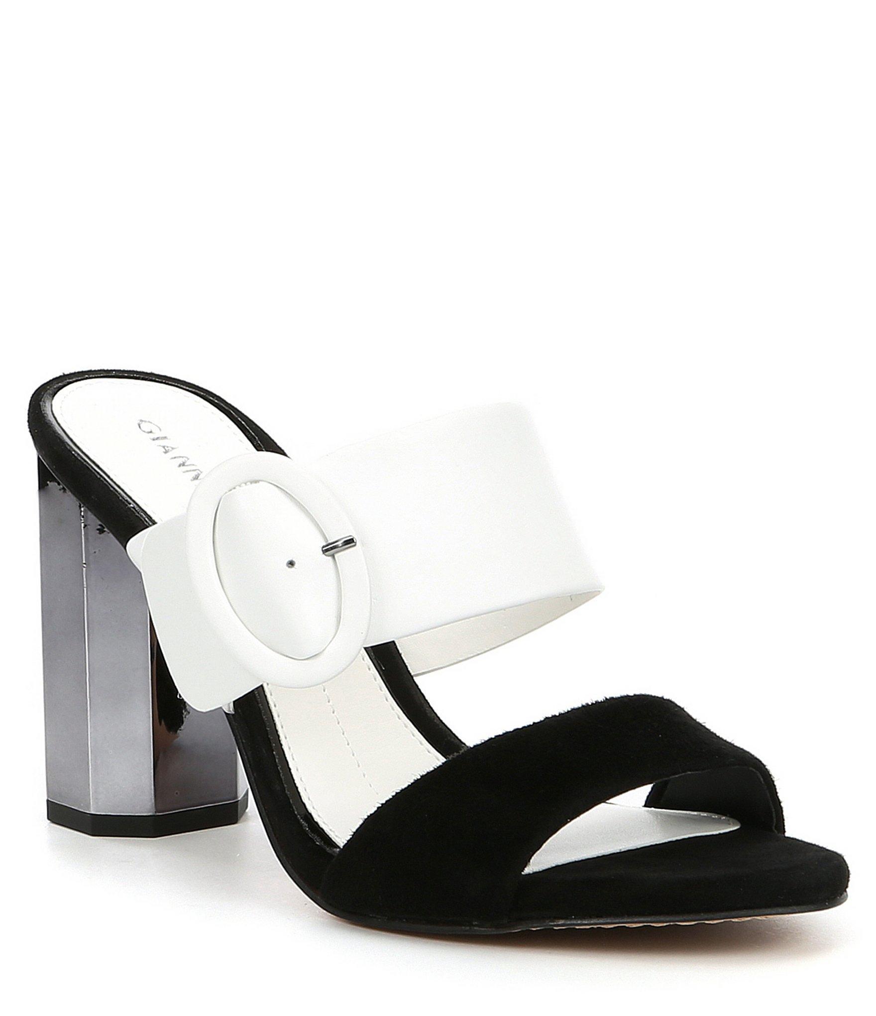 072f122d0fd Lyst - Gianni Bini Ramey Colorblock Block Heel Mules in Black