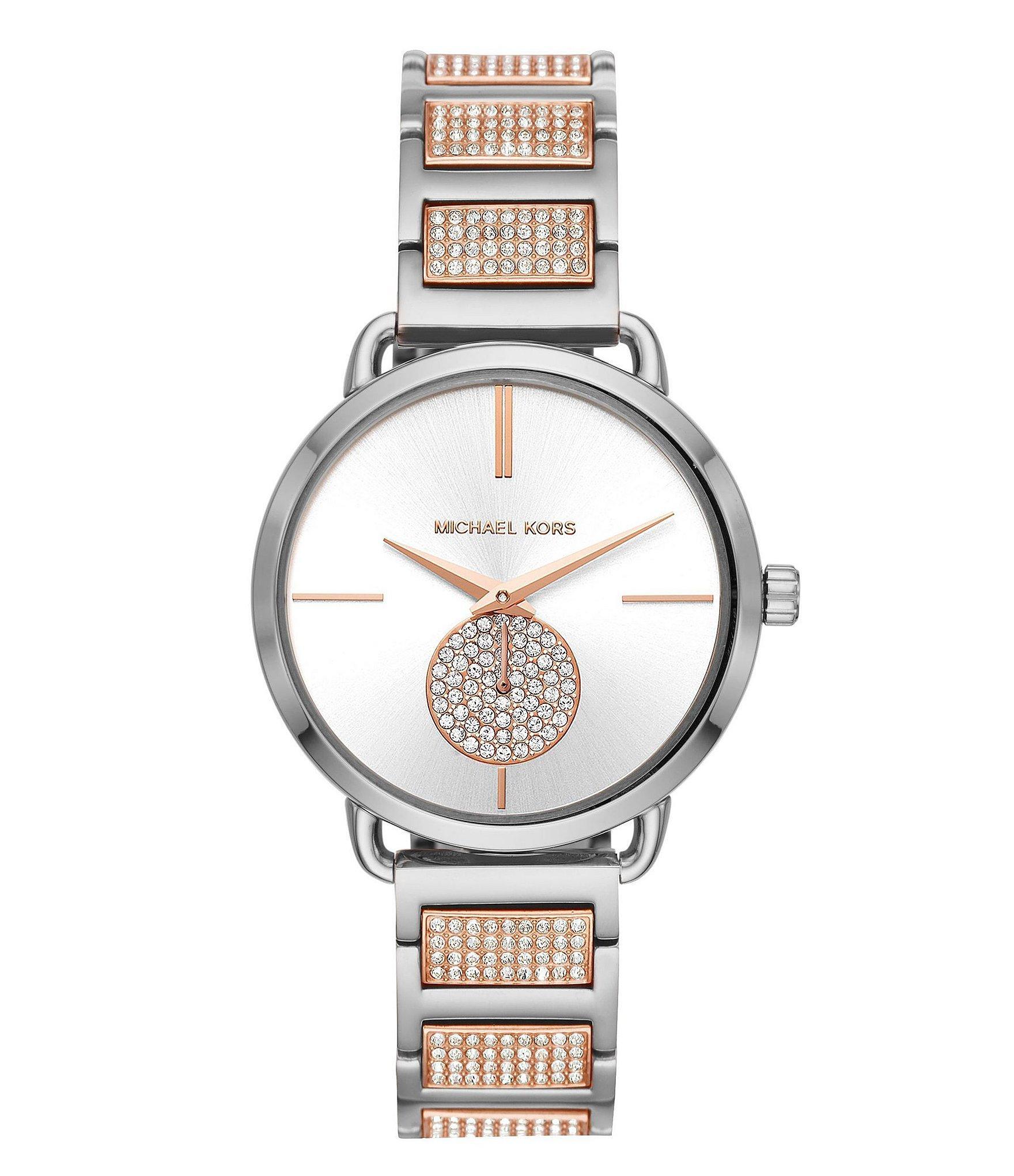 6eedf0d46135 Michael Kors - Metallic Portia Three-hand Two-tone Stainless Steel Watch -  Lyst. View fullscreen