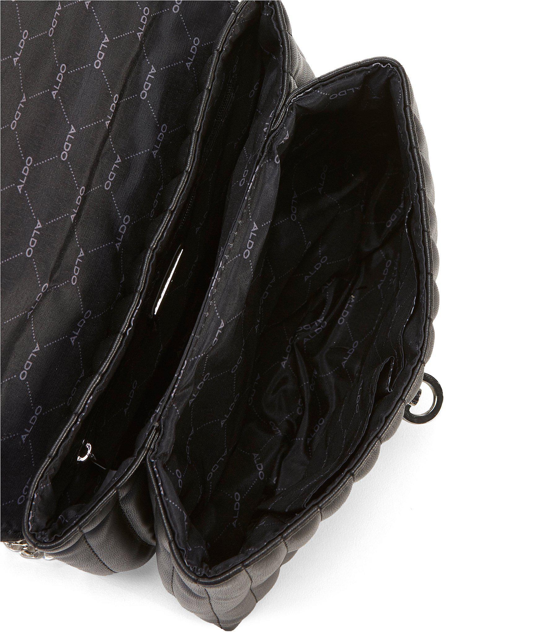 b0de47c6307 Lyst - ALDO Abilaniel Quilted Chain Strap Clutch in Black