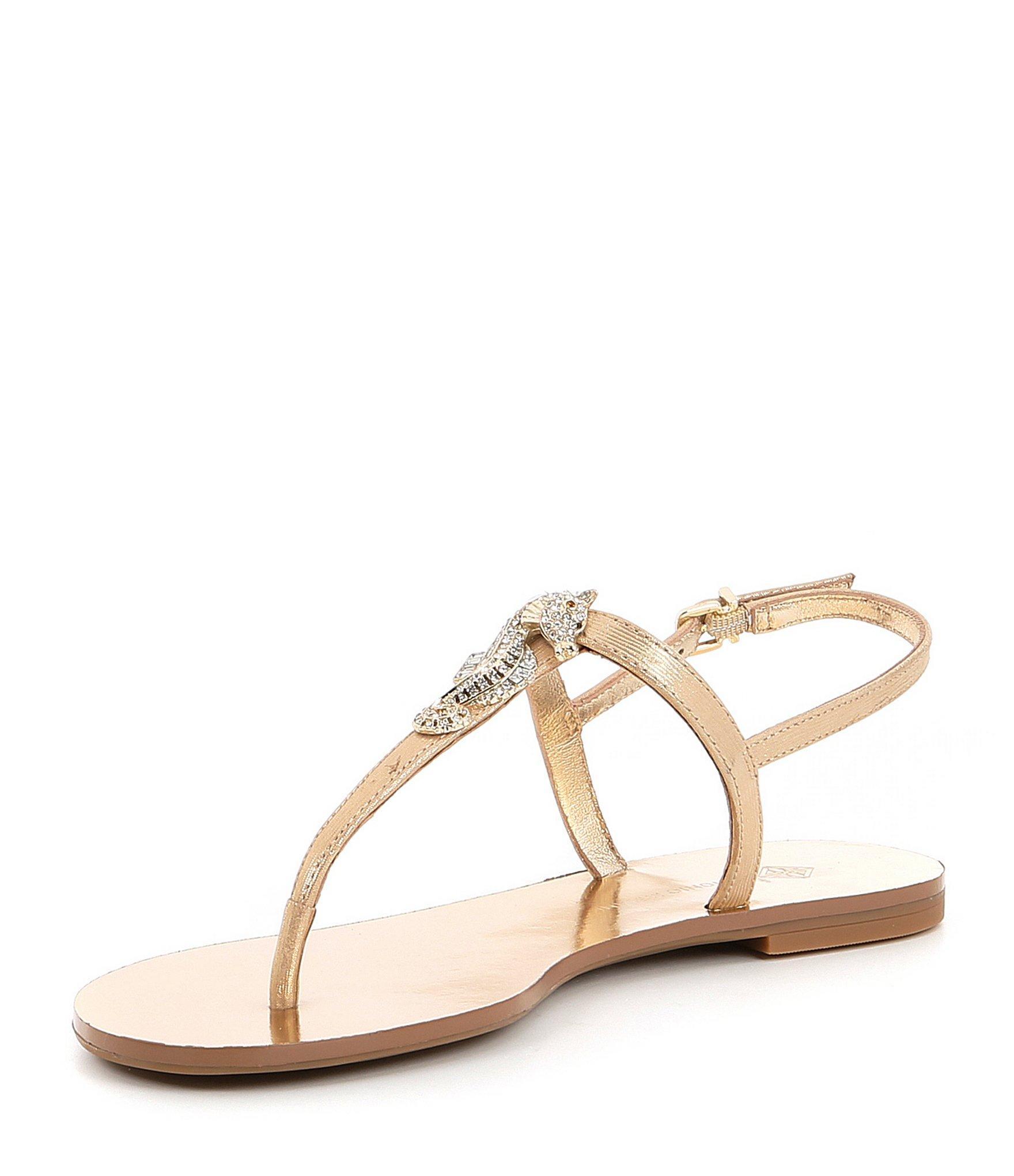 058a74a7143d9d Lyst - Antonio Melani Saija Jewel Seahorse Ornament Metallic Thong ...