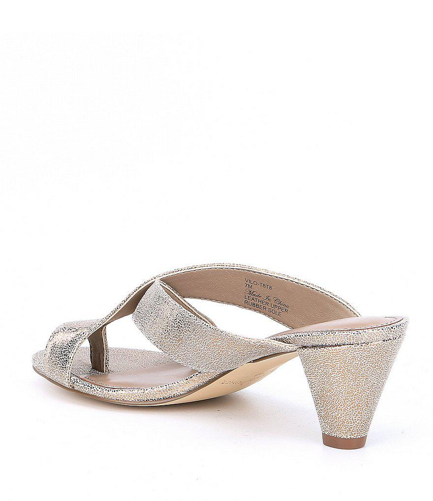 Vilo Metallic Leather Dress Sandals ixQXUpxBp