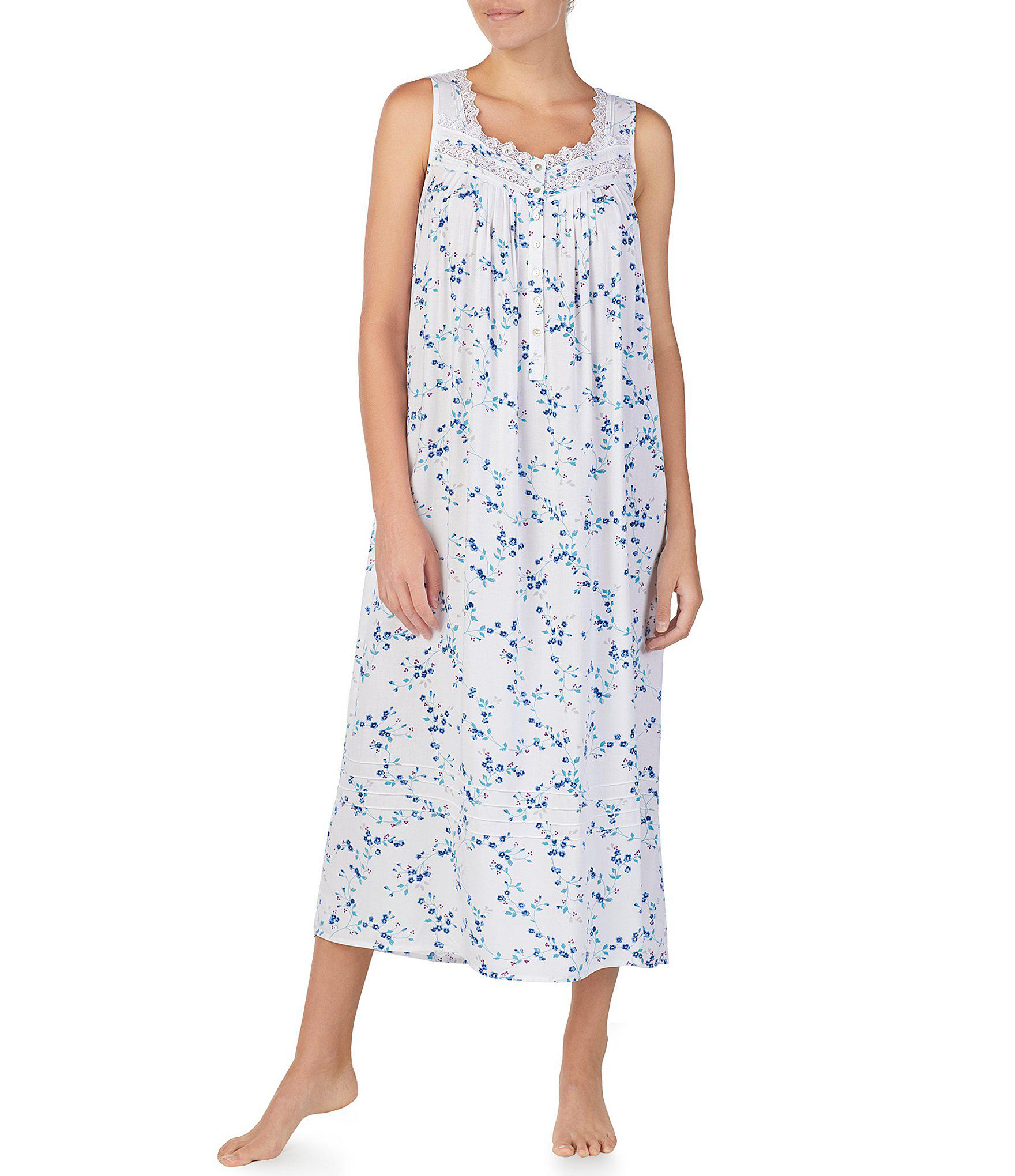 c33af8360b Eileen West. Women s Floral-printed Lawn Ballet Nightgown