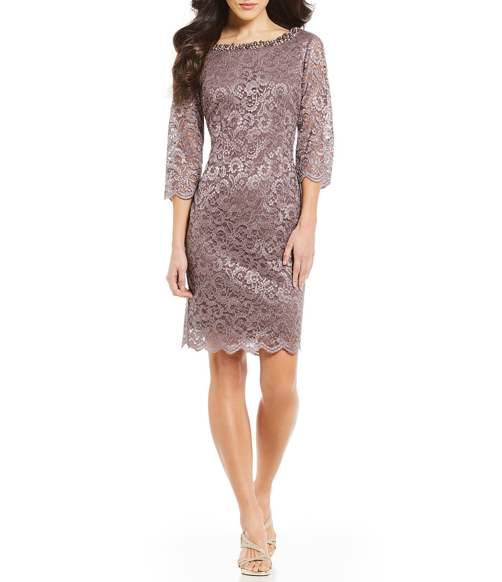 972c836f0e Lyst - Alex Evenings Petite Size Glitter Lace Sheath Dress