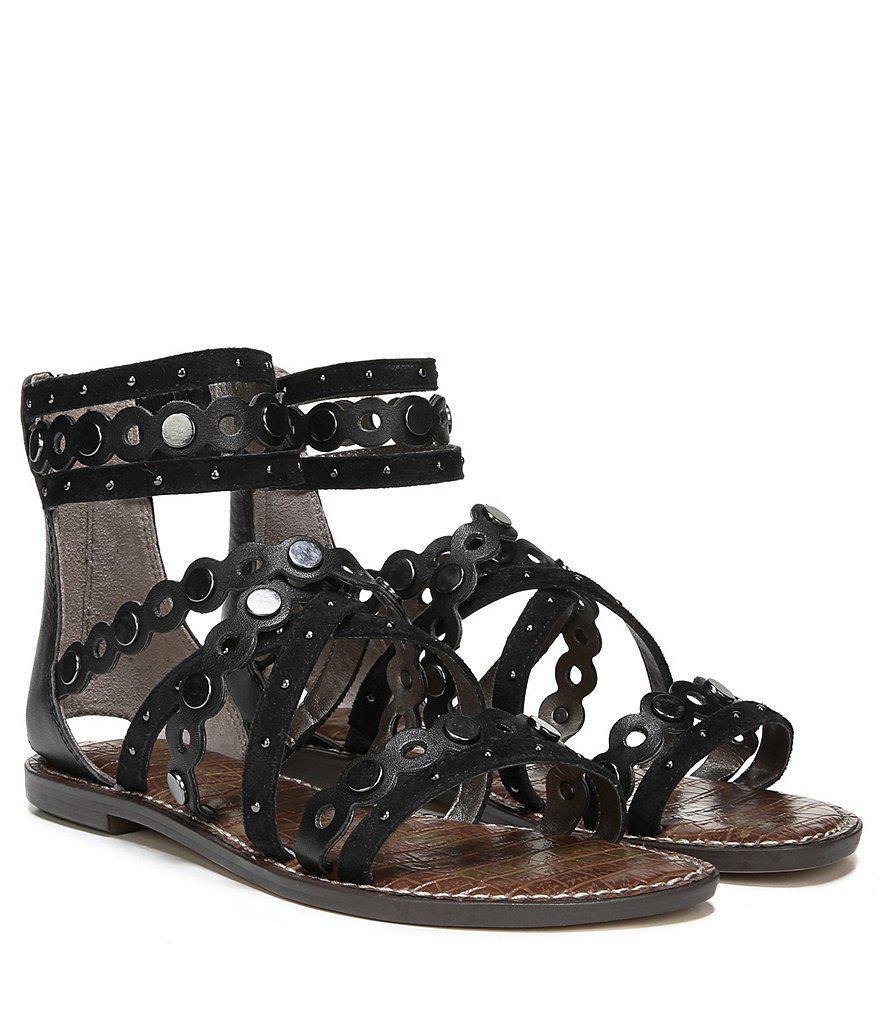 Geren Suede Studded Gladiator Sandals 2ppAqL
