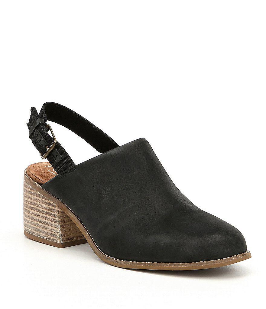 Leila Slingback Block Heel Mules 2VBNNbY