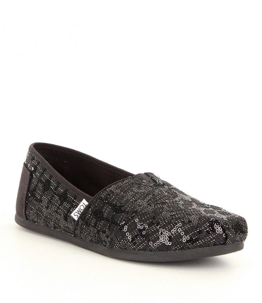 390d7dcdd59 Lyst - TOMS Seasonal Alpargata Sequin Shoes in Black