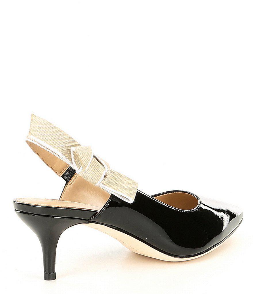 Luvata Patent Leather Slingback Kitten Heel Pumps B8A7RKRJ