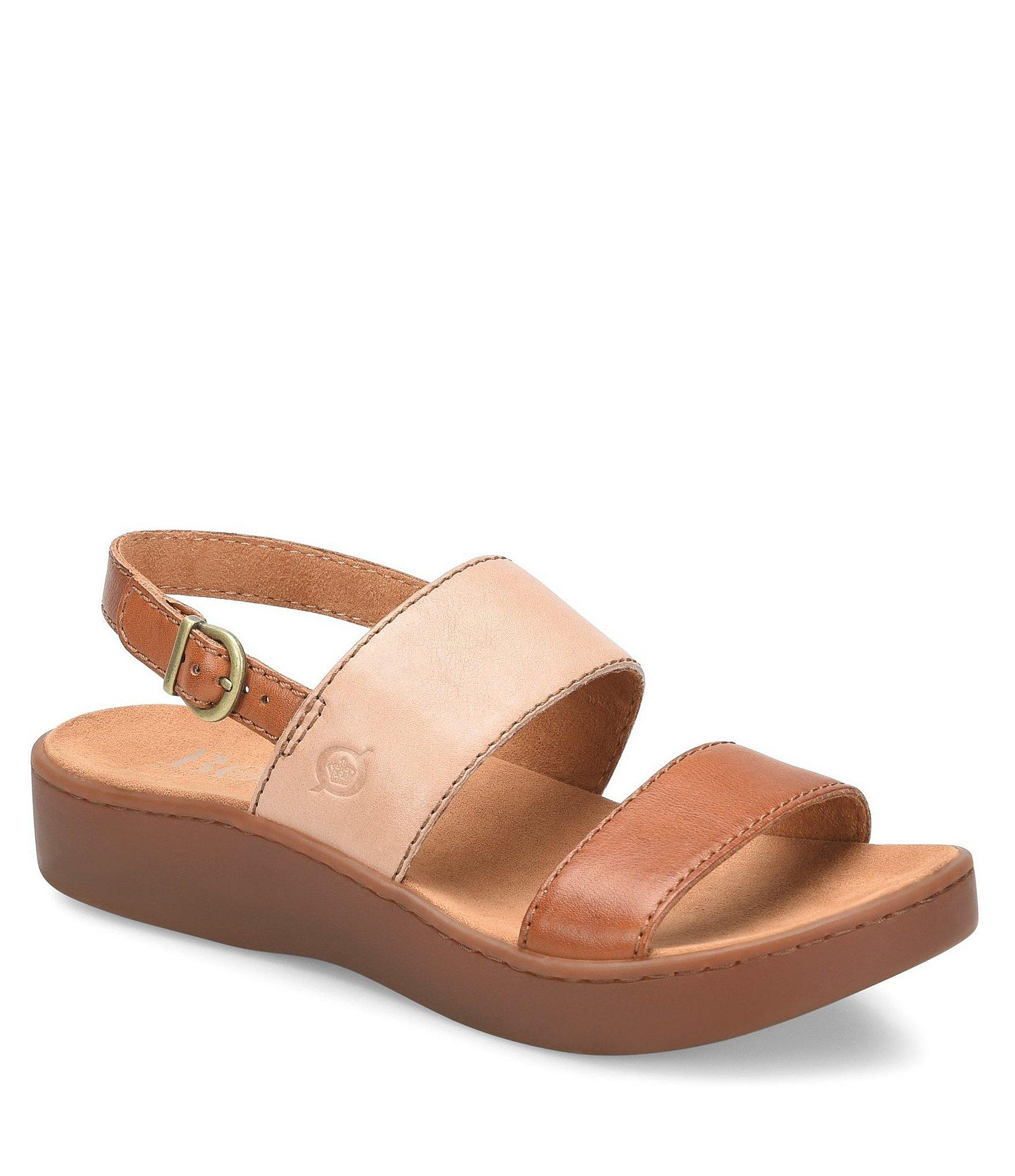70935bc846ba Lyst - Born Oconee Banded Leather Sandals in Brown
