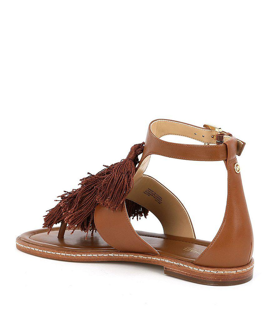 Gallagher Tassel Fringe Thong Sandals wHrSf