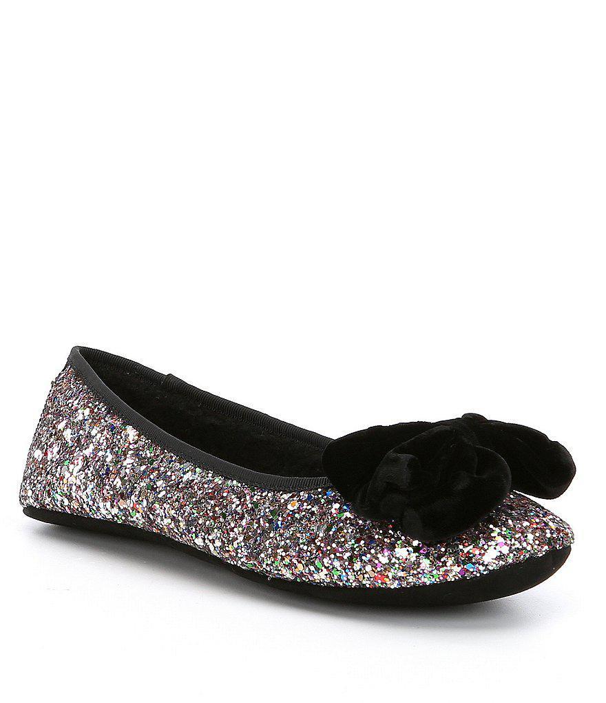 9ebcca5c7f0b Lyst - Kate Spade Sussex Glitter Slippers
