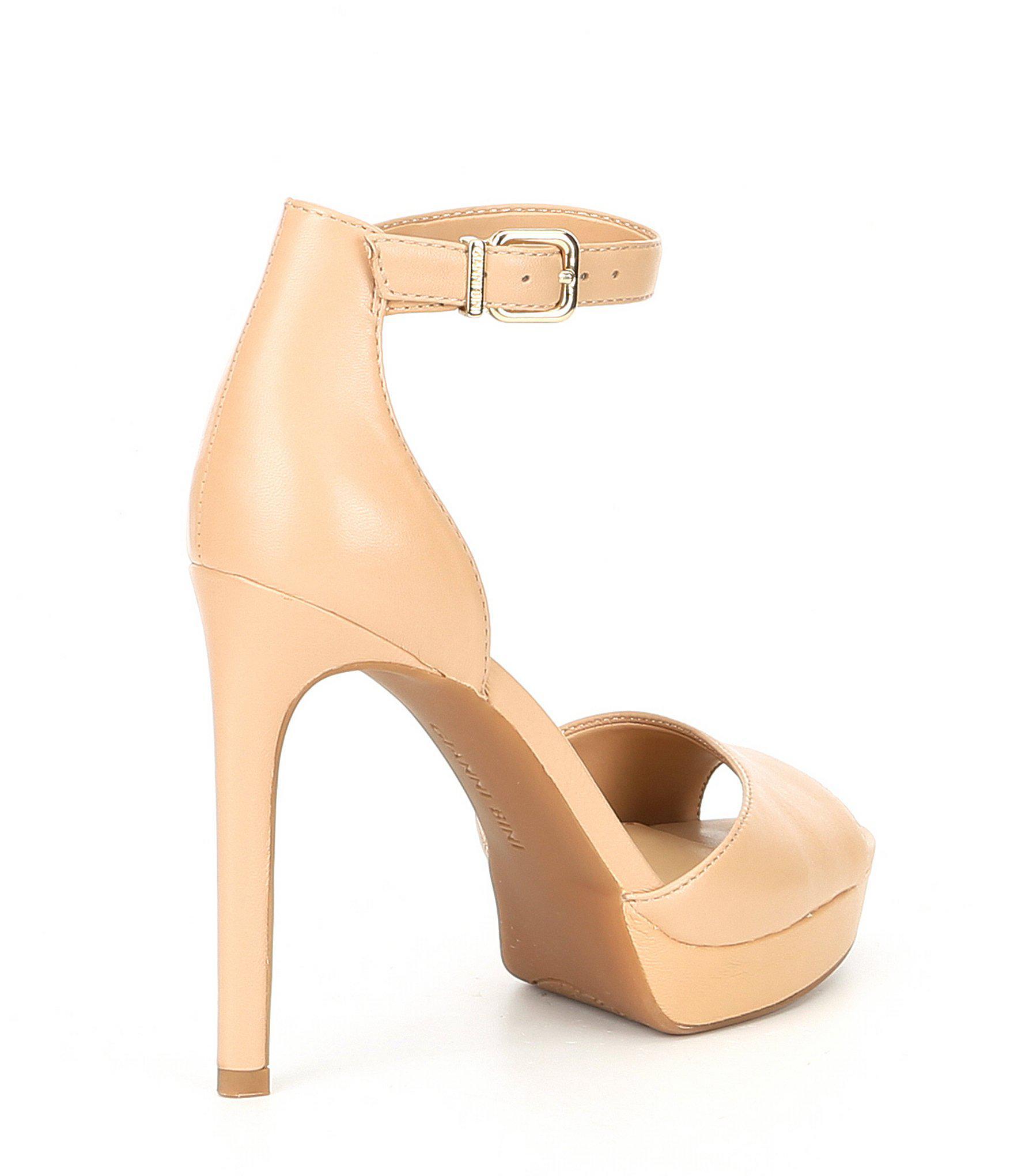 e9d25612d Gianni Bini Austinne Platform Dress Sandals in Natural - Lyst