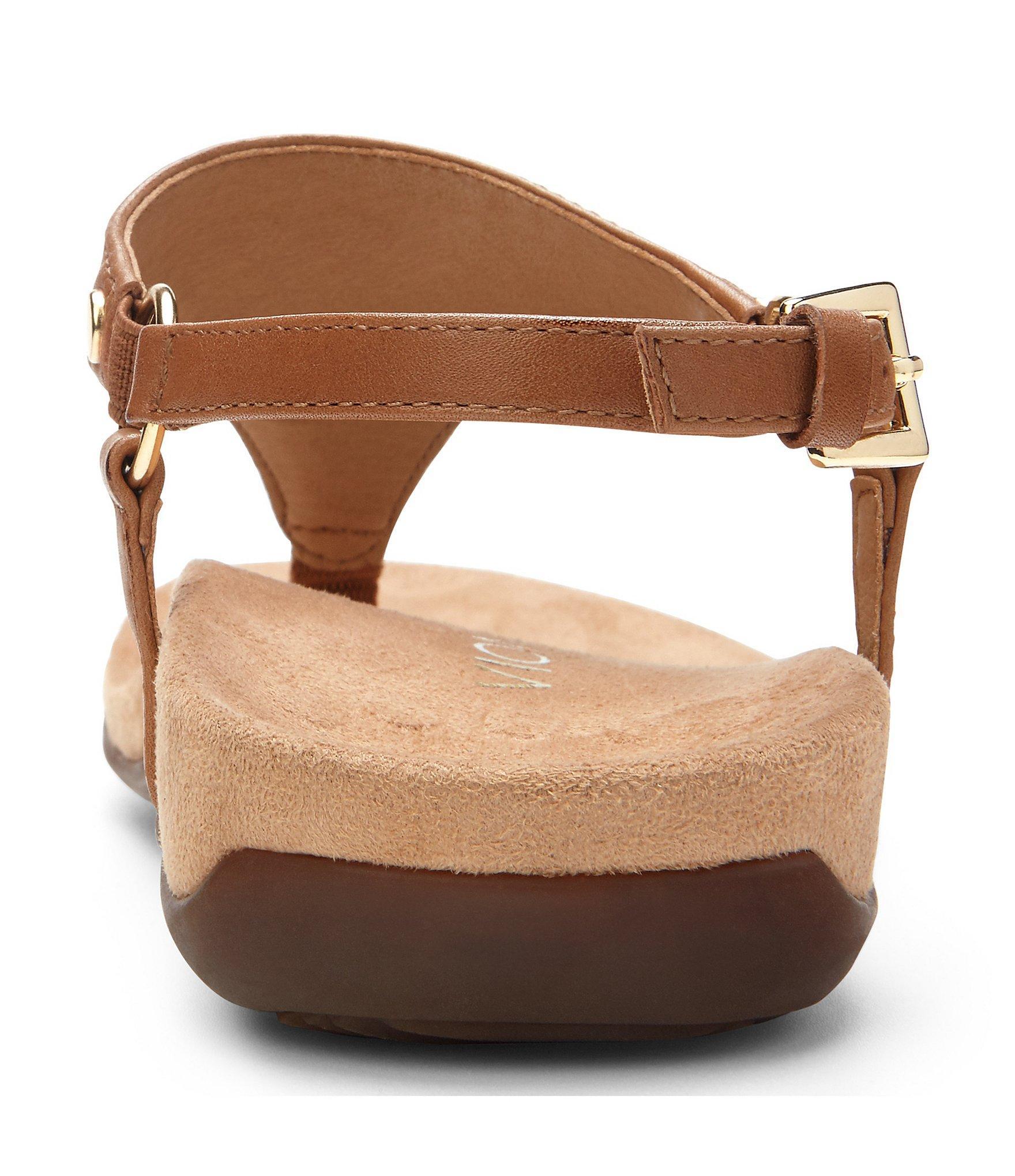 ba55f8fbcf9 Vionic - Brown Kirra Leather Thong Sandals - Lyst. View fullscreen