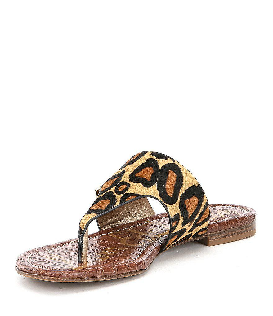 Barry Leopard Print Calf Hair Double E Sandals HjNKi0qL