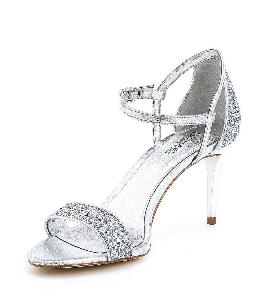 Simone Metallic Glitter Mid Dress Sandals mu3cxj0G3a