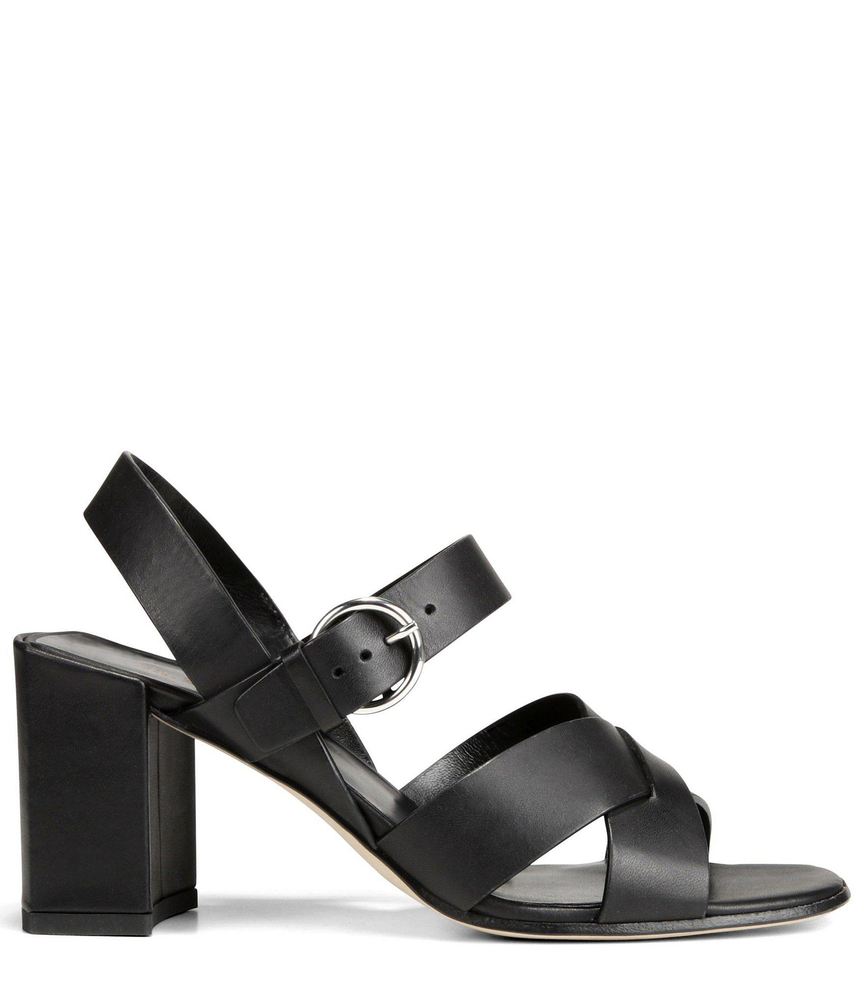271487efdb09 Via Spiga - Black Women s Opal Block Heel Sandals - Lyst. View fullscreen