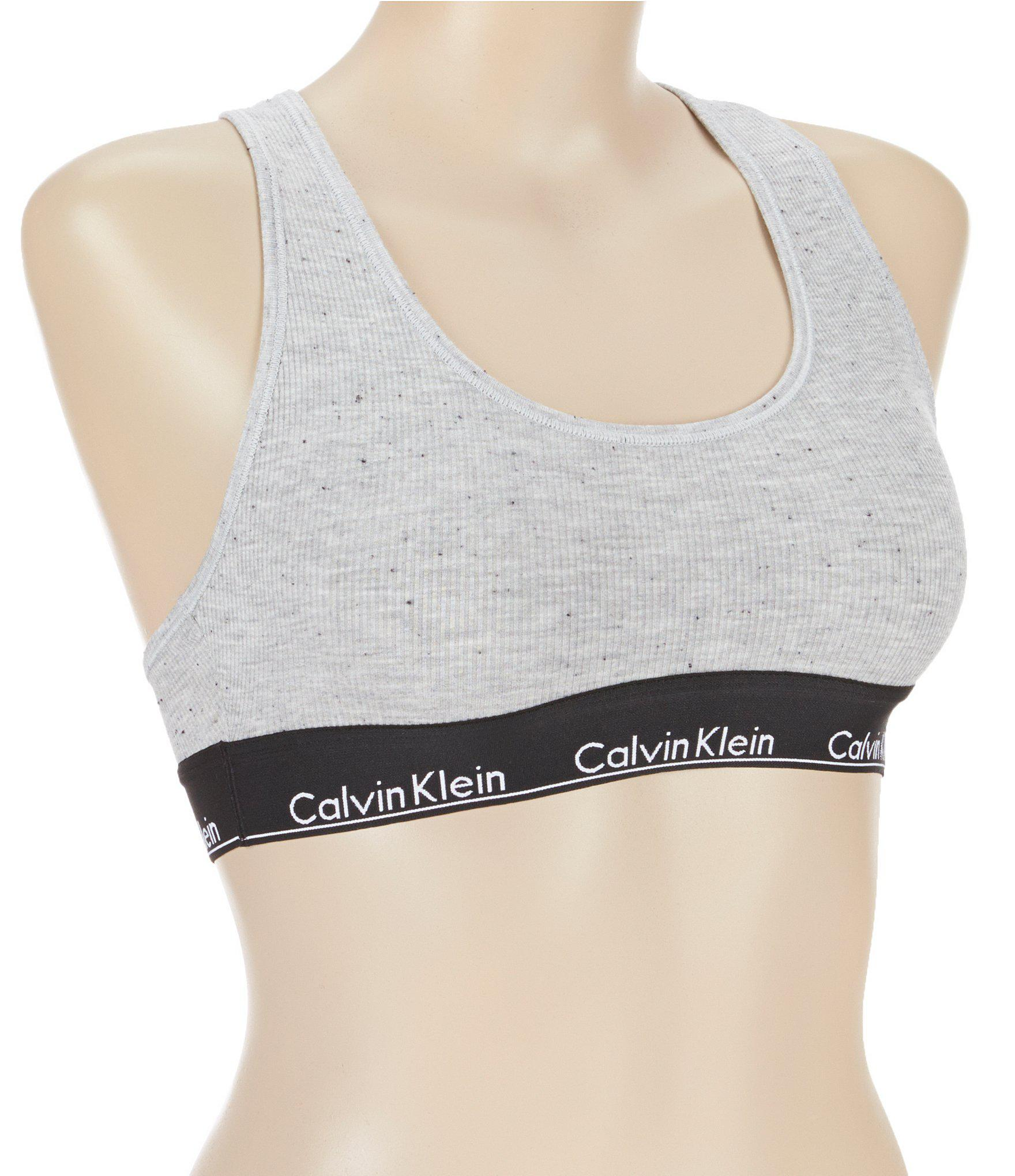 8659cf7bee ... Gray Modern Cotton Ribbed Racerback Bralette - Lyst. View fullscreen