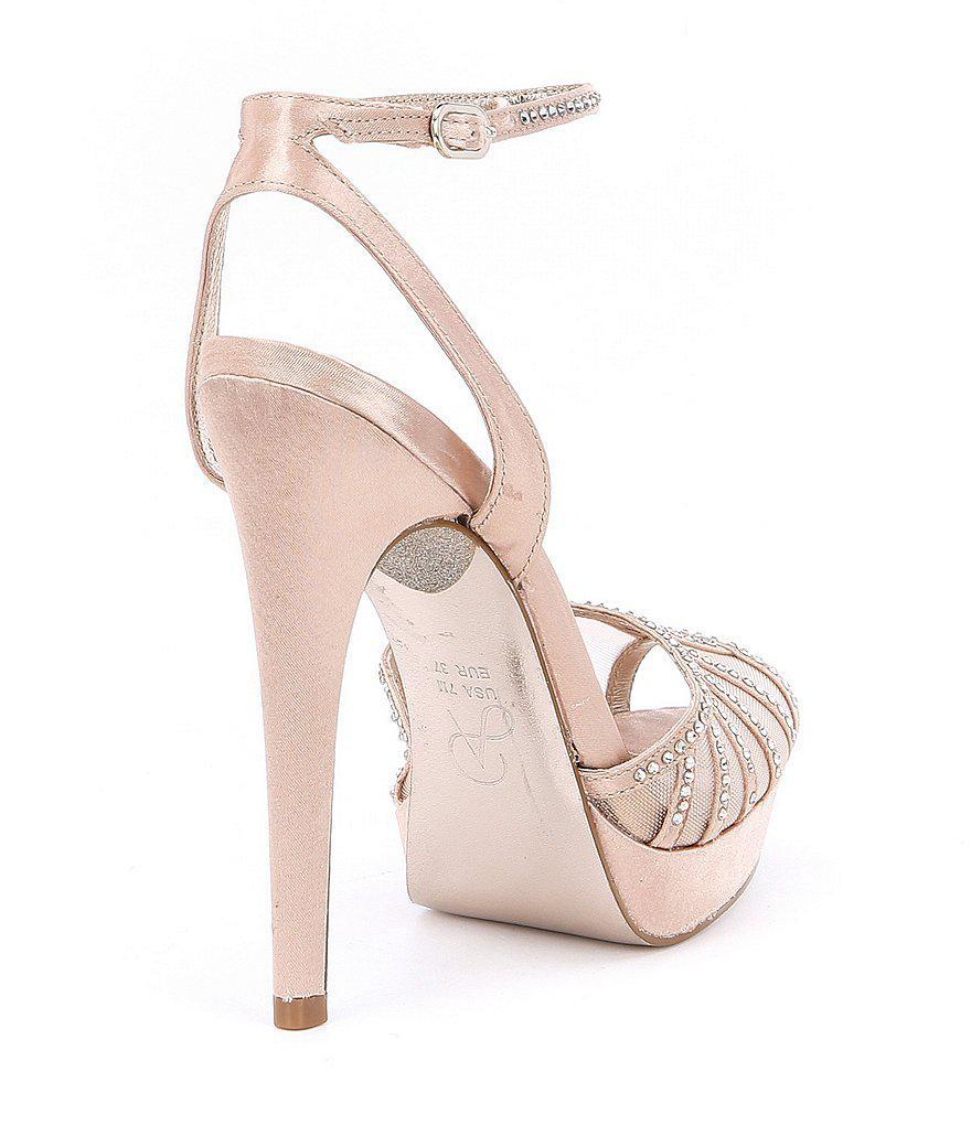 Adrianna Papell Simone Crystal Stud Detail Ankle Strap Dress Sandals WmgCc