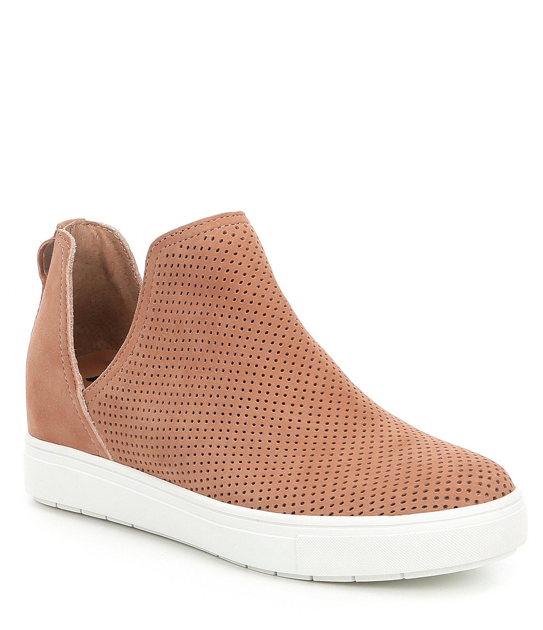 e21a3d400b67 Lyst - Steve Madden Steven By Canaresp Suede Wedge Sneakers in Brown