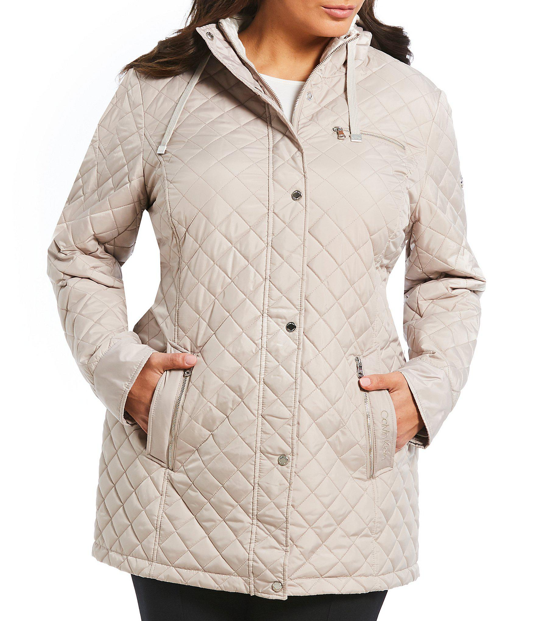 2938af3c043 Calvin Klein. Women s Plus Size Single Breasted Hooded Quilted Coat