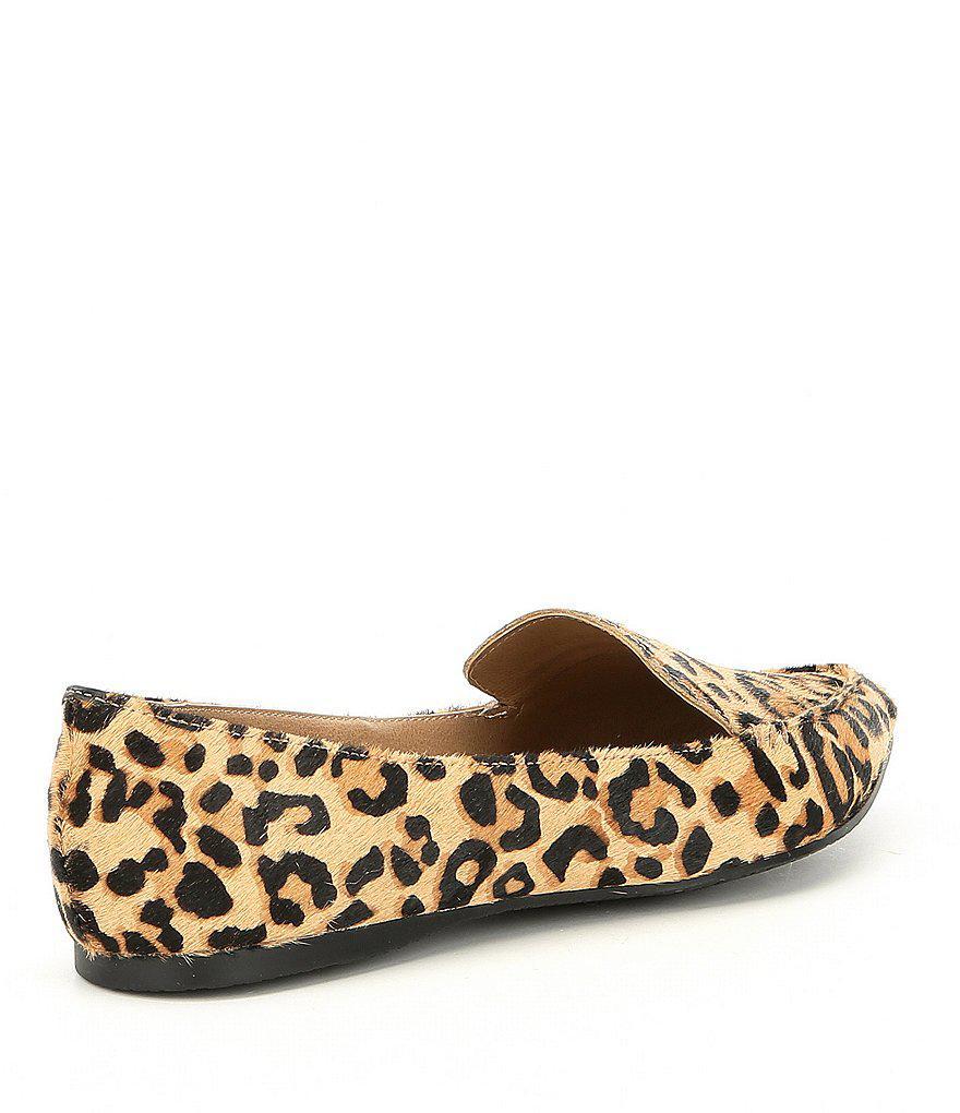 Feather Leopard Print Calf Hair Loafers A7tqFQ5sxo