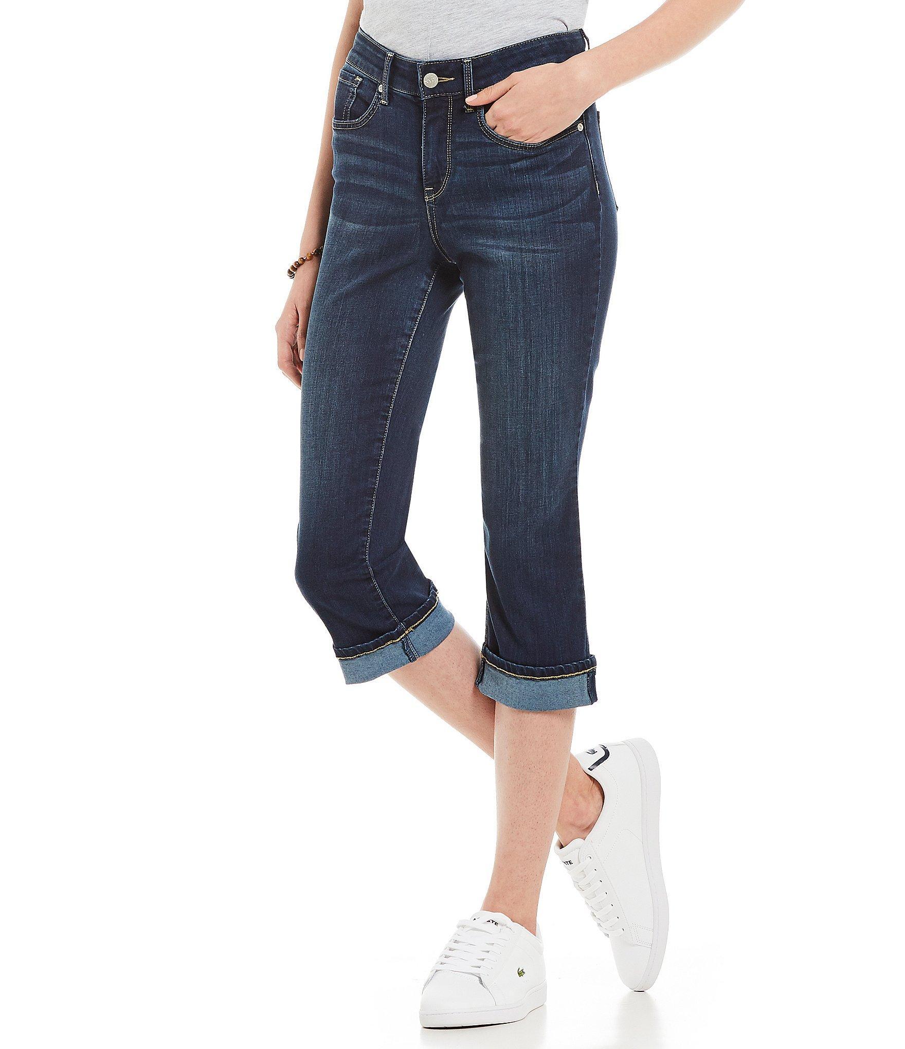 9db4d570e2f Lyst - NYDJ Marilyn Cuffed Capri Jeans in Blue