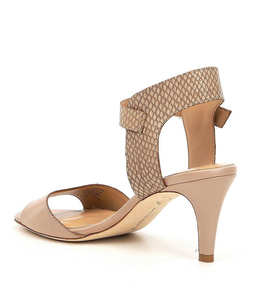 Madalene Snake Print Dress Sandals iTCbO