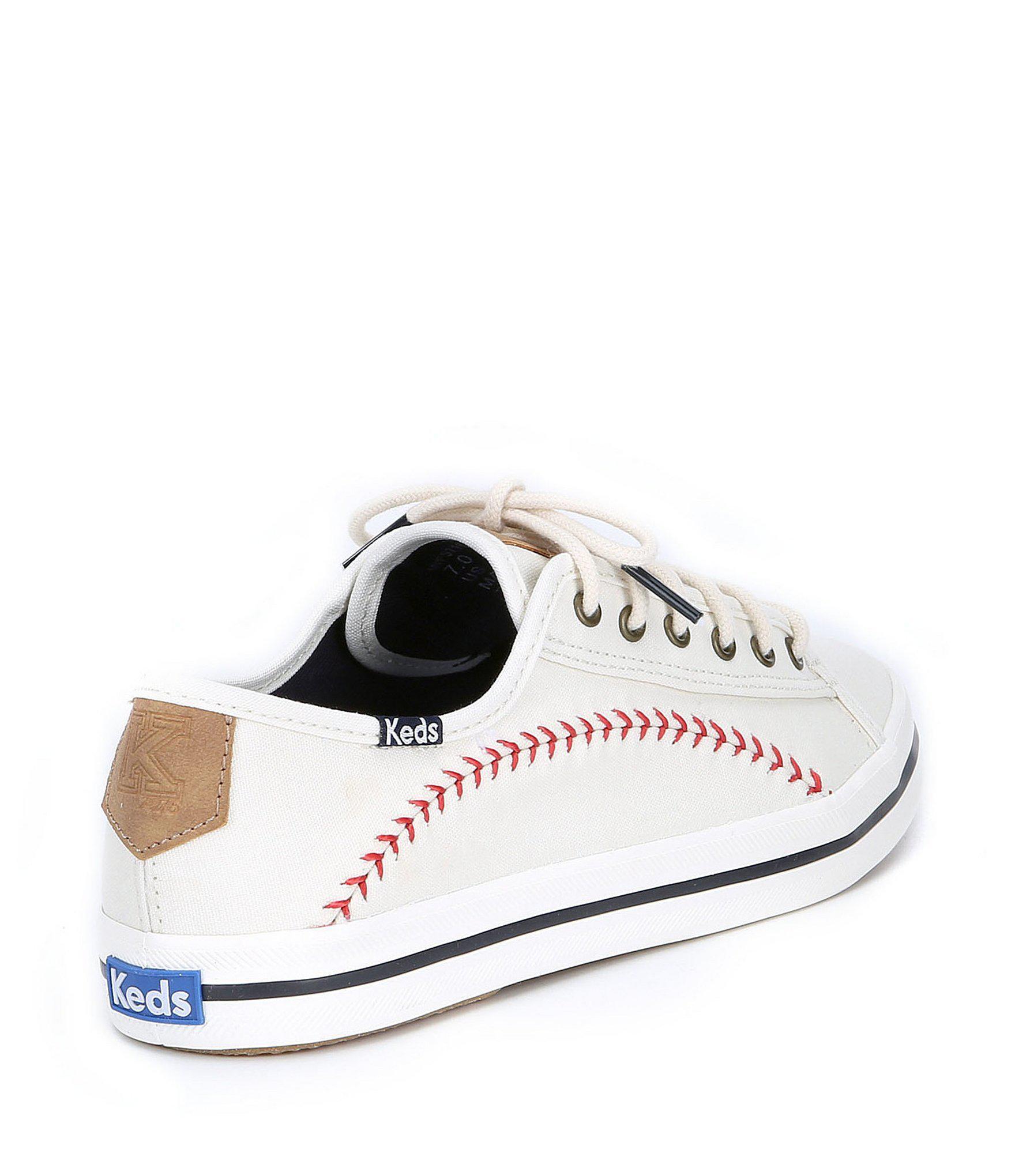 5f6c0161e8cb7 Lyst - Keds Kickstart Pennant Baseball Stitch Sneakers in White