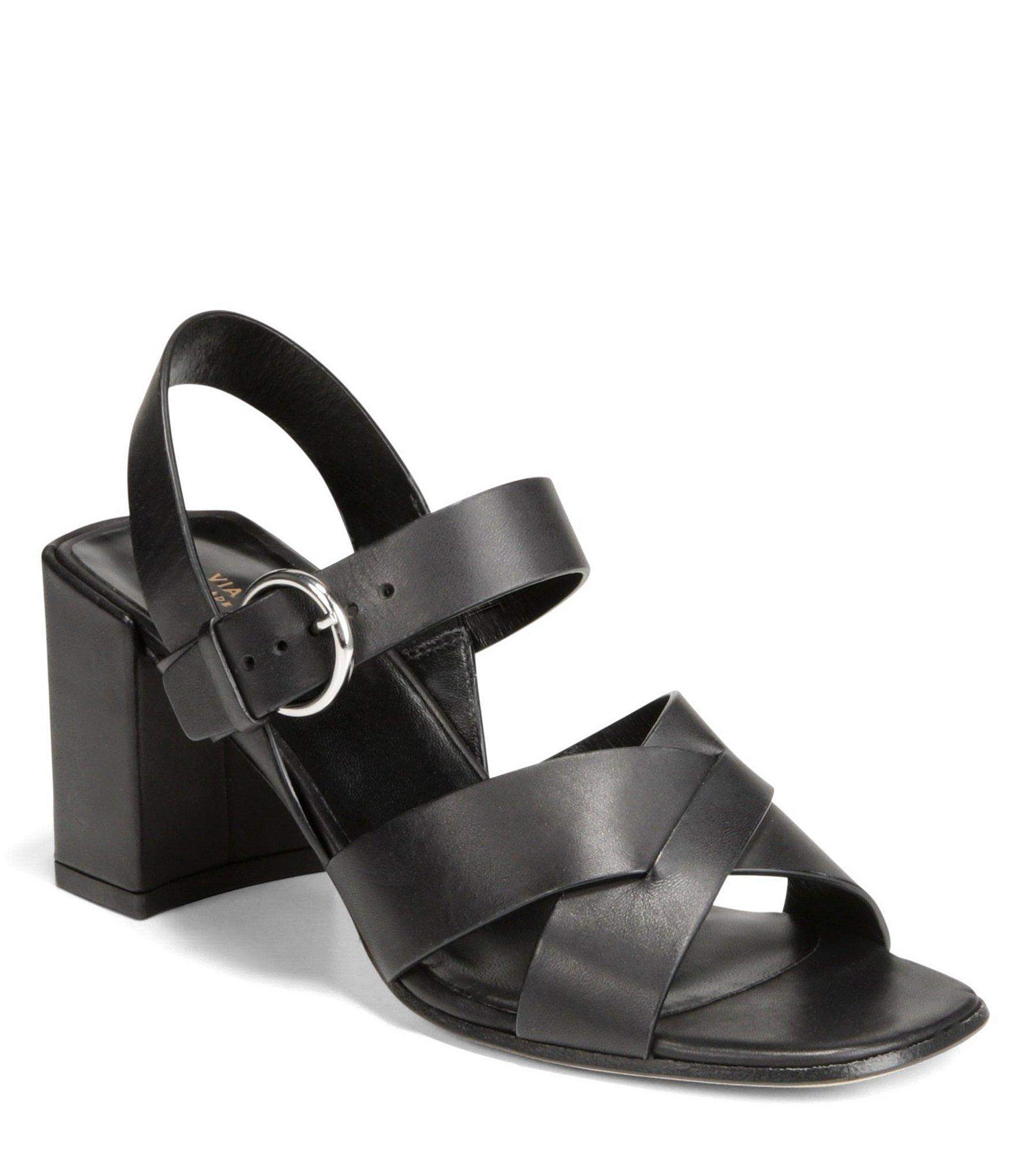 dac324b27b10 Lyst - Via Spiga Women s Opal Block Heel Sandals in Black