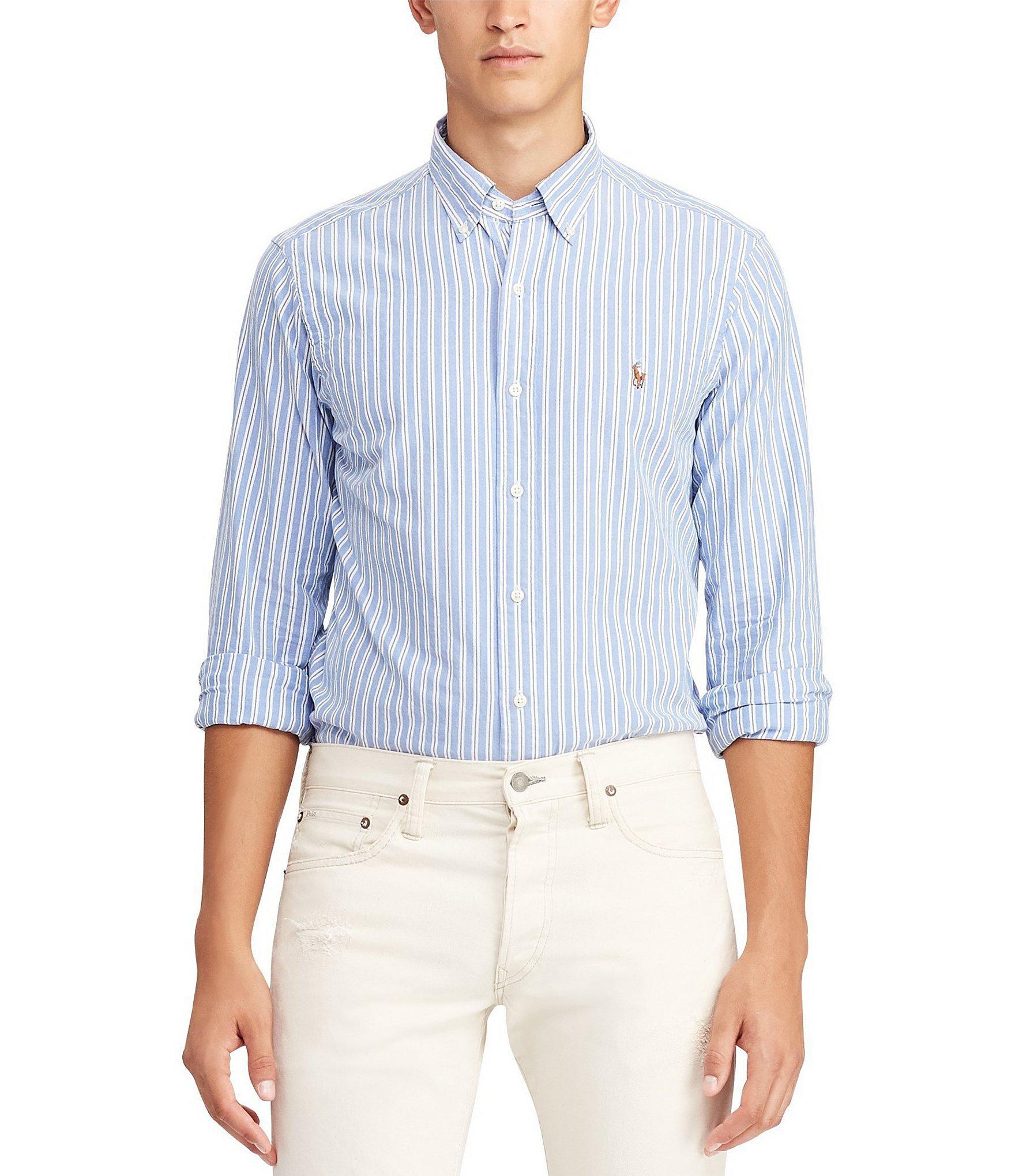 f0e725fc Lyst - Polo Ralph Lauren Multi-stripe Long-sleeve Woven Shirt in ...