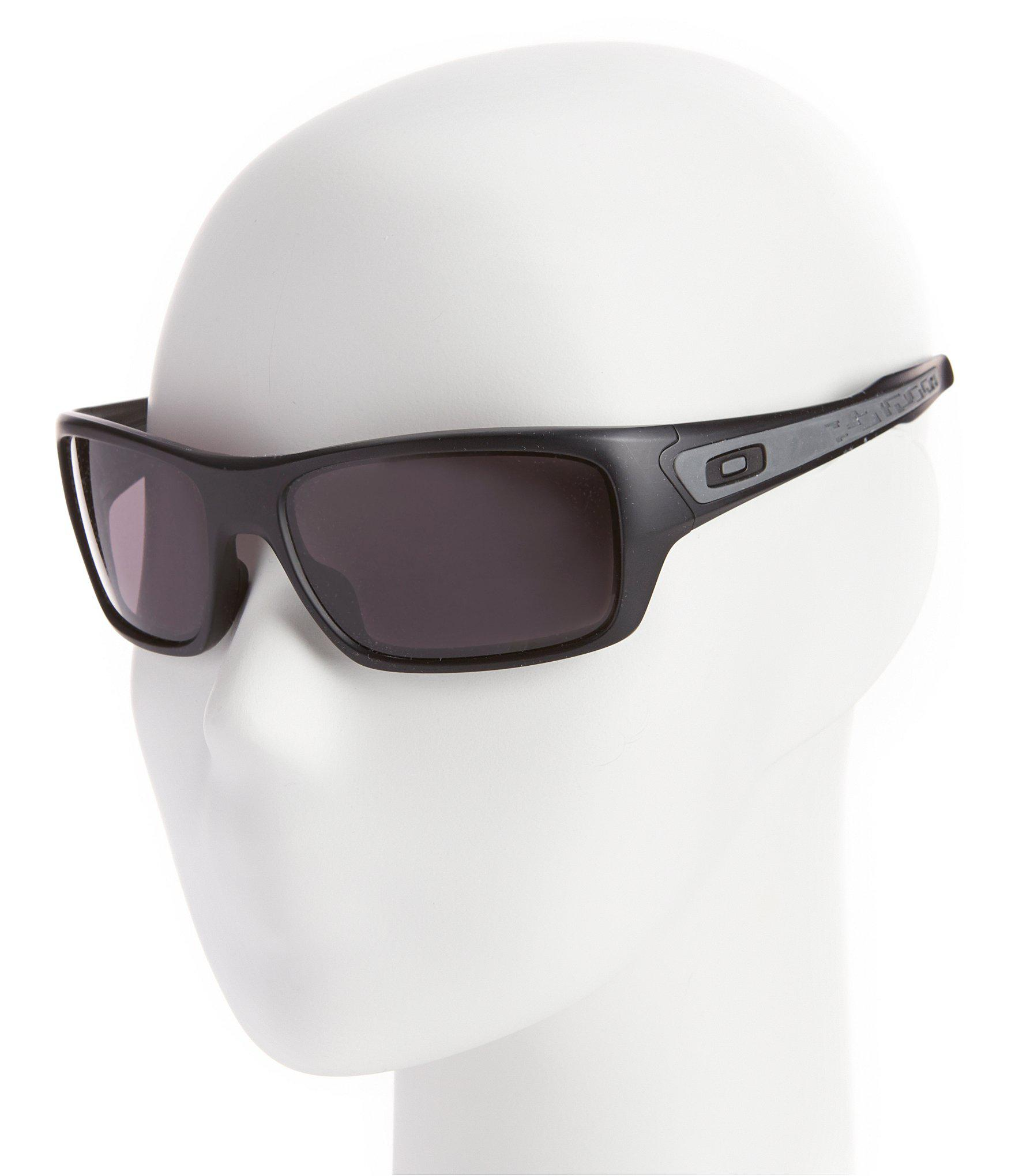 69744f72836 Oakley - Turbine Matte Black Rectangle Sunglasses for Men - Lyst. View  fullscreen