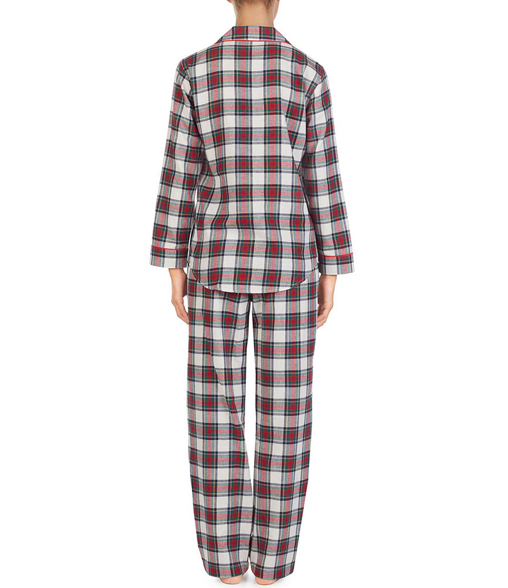 Lauren by Ralph Lauren - Multicolor Plaid-print Brushed Twill Pajamas - Lyst.  View fullscreen bf5e8234b