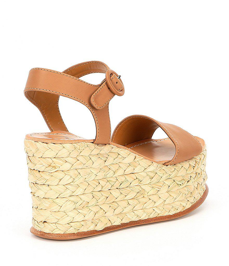 Dane Leather Platform Espadrille Wedge Sandals 7pXoUFXmIl
