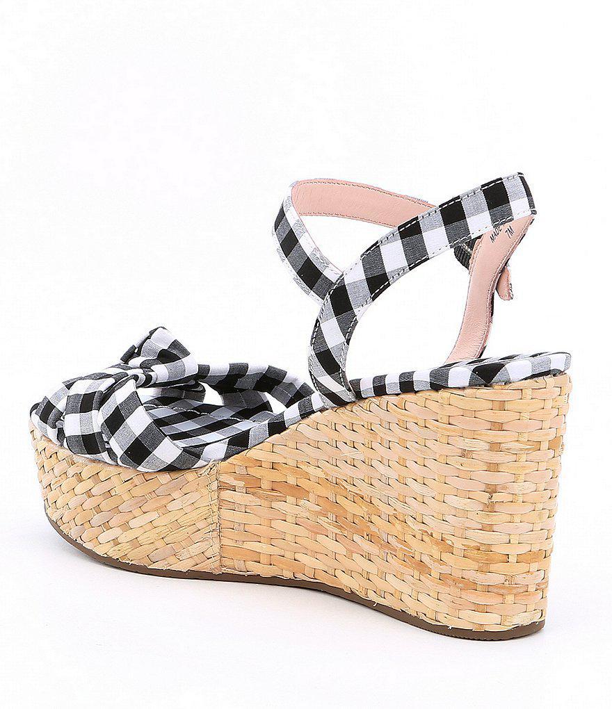 Tilly Gingham Wedge Sandals WfchckVE