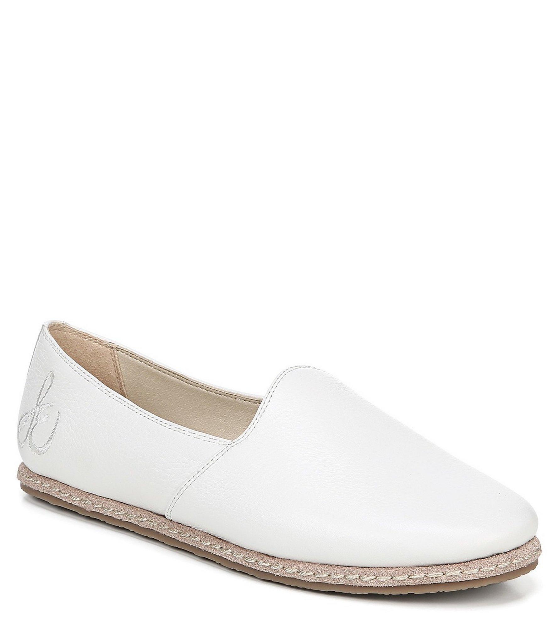 bb6d1c81d85 Lyst - Sam Edelman Everie Leather Slip Ons in White