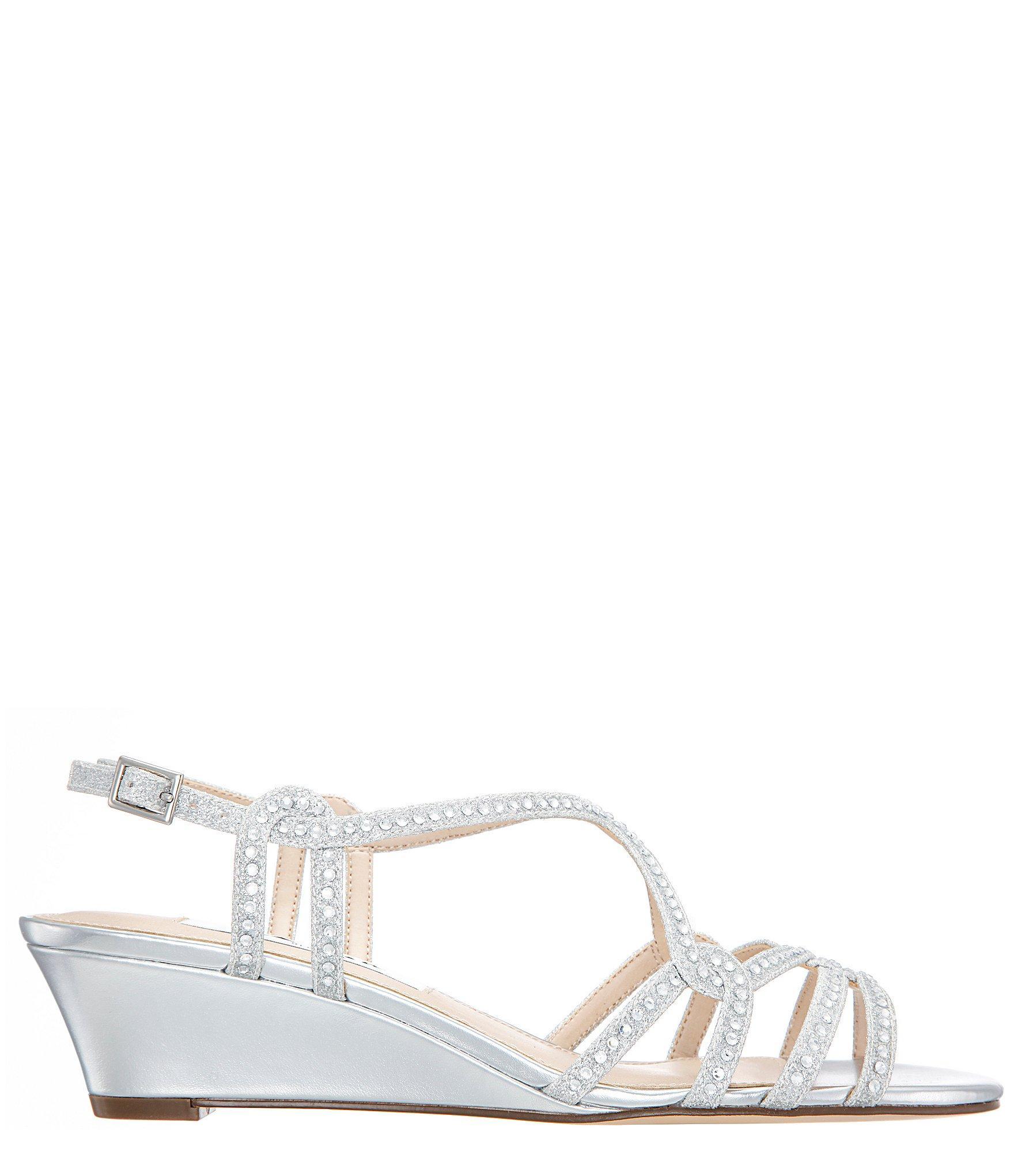 fa972f420 Nina - Metallic Fynlee Glitter Wedge Sandals - Lyst. View fullscreen