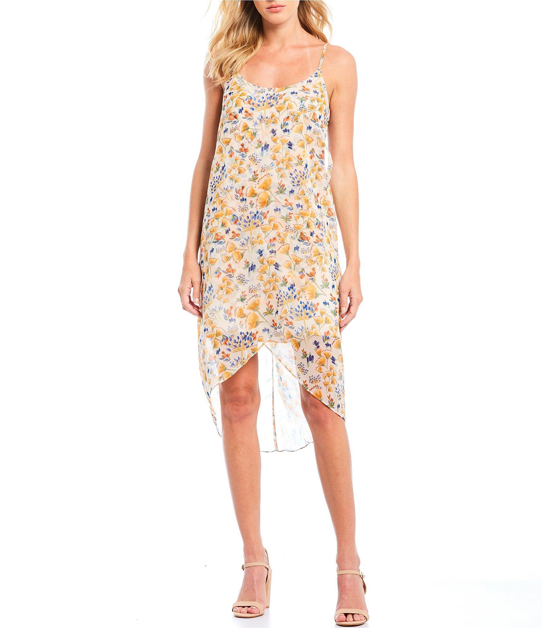 3a1807156f Gianni Bini - Multicolor Lauren Floral Print Hi-low Midi Dress - Lyst. View  fullscreen