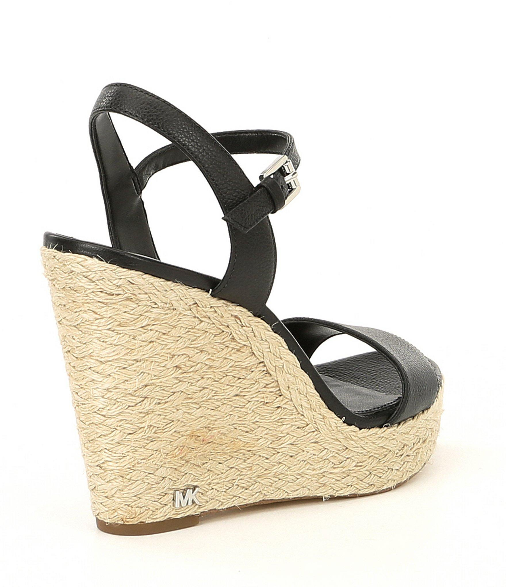 415e6c7de5e3 MICHAEL Michael Kors - Black Jill Espadrille Wedge Sandals - Lyst. View  fullscreen